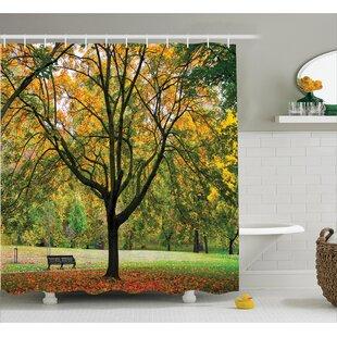 Clovis Bench Under The Tree Decor Single Shower Curtain