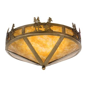 Meyda Tiffany Tamarack 2-Light Flush Mount
