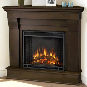 chateau corner electric fireplace