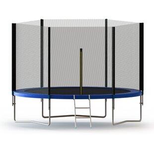 ALEKO 8' Round Trampoline with Safety Enclosure