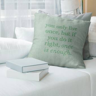 East Urban Home Multicolor Background Family Love Quote Pillow Cover Wayfair