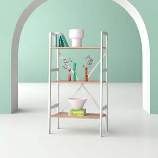 Tilton 3 Tier Ladder Storage Shelves Bookcase by Hashtag Home