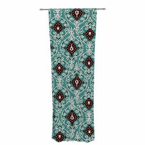 Nika Martinez Bohemian Pattern Digital Illustration Paisley Sheer Rod Pocket Curtain Panels (Set of 2)