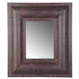 Loon Peak Sacagawea Hand-Crafted Rectangle Brown Wall Mirror