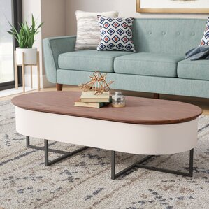 Corrigan Studio Wooten Oval Coffee Table with Lift Top
