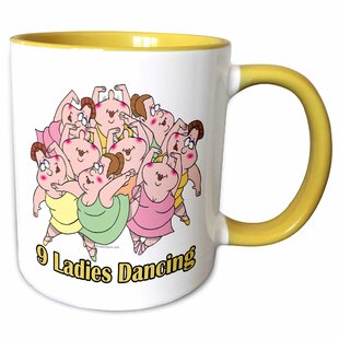 Nine Ladies Dancing Coffee Mug