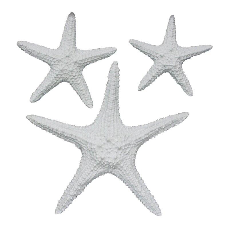 Fetco Home Decor Yelton 3 Piece Starfish Wall Décor Set | Wayfair