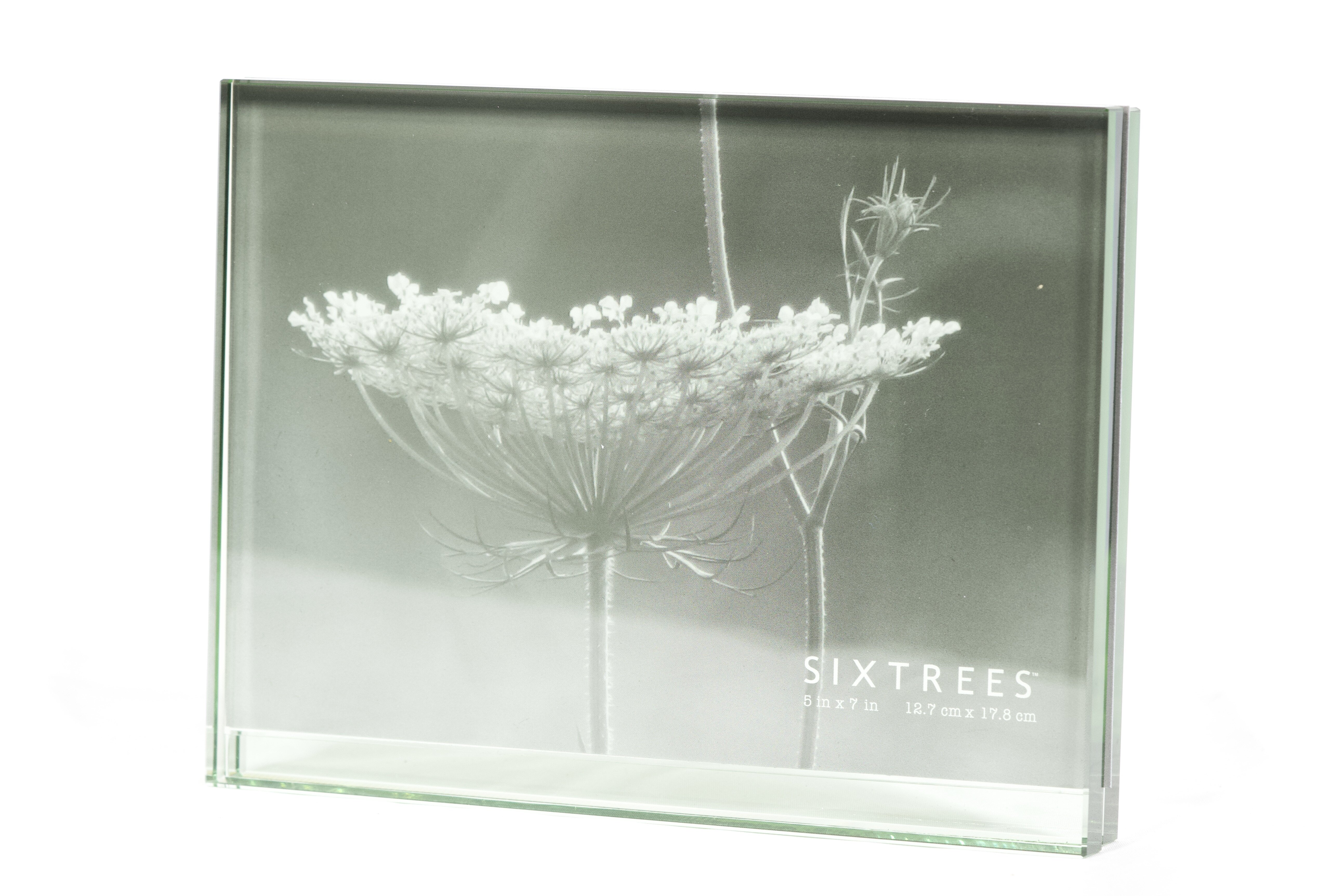 SIXTREES Mirror Deco Luxury Frame 4 by 6-Inch Silver