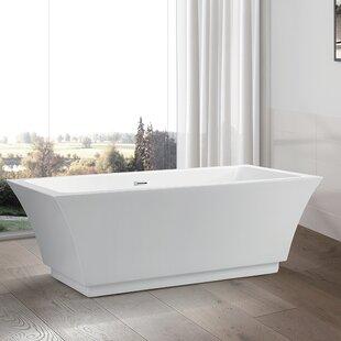 Clearance 59 x 29.5 Freestanding Soaking Bathtub ByVanity Art