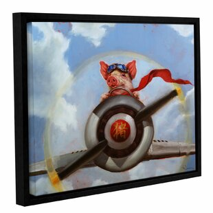 When Pigs Fly Framed Painting Print On Canvas