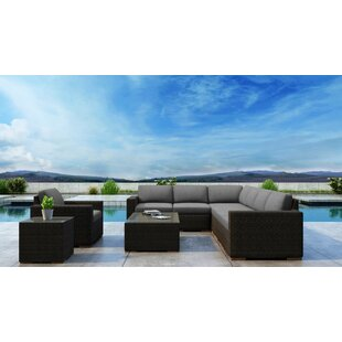 Glen Ellyn 9 Piece Sectional Set with Sunbrella Cushion
