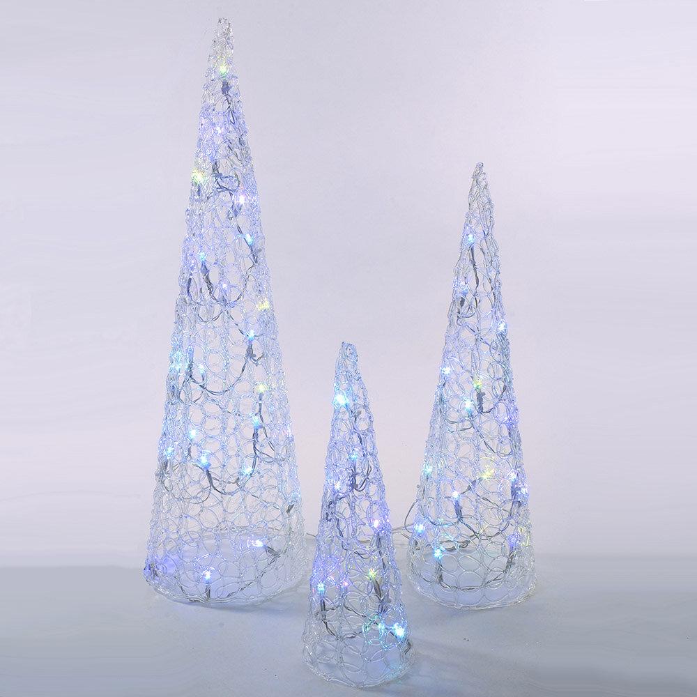 Kurt Adler 3 Piece Cones 12 Light String Light Set Wayfair