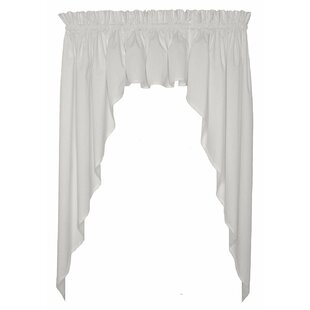 Songy Solid Color 3 pc. Swags & Valance Curtain Set By Astoria Grand