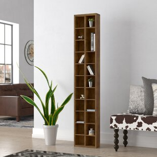 Brown Geometric Bookcase by Trent Austin Design