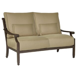 Grand Regent Loveseat with Cushions by Leona