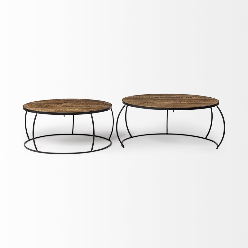 Foundry Select Delisio Frame 2 Nesting Tables Reviews Wayfair