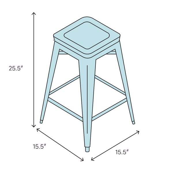 Foundry Select Robertsdale Solid Wood 25 5 Counter Stool Wayfair