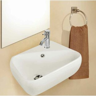 American Imaginations Ceramic Specialty Bathroom Sink with Faucet and Overflow