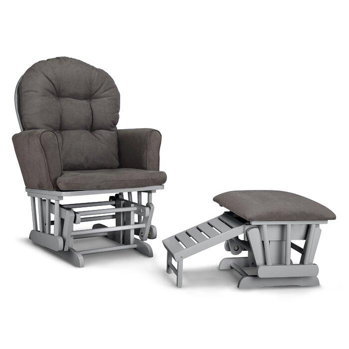 Surprising Parker Semi Upholstered Nursing Glider Ottoman Alphanode Cool Chair Designs And Ideas Alphanodeonline
