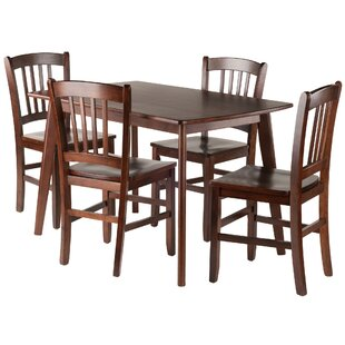Guynn 5 Piece Solid Wood Dining Set Winston Porter