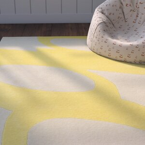 Jeramy Hand-Tufted Yellow Area Rug