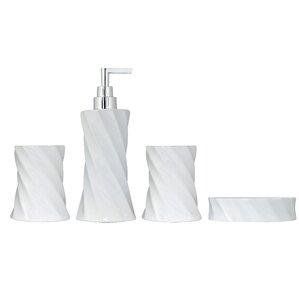 4 Piece Flora Series Bathroom Accessories Set
