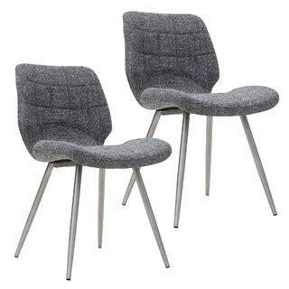 Aghanliss Upholstered Dining Chair (Set of 2) by Orren Ellis SKU:EA877324 Details