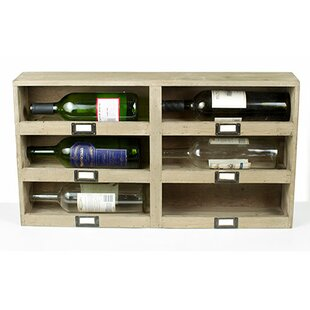 Cavour Recycled Pine Stacking 6 Bottle Wall Mounted Wine Rack