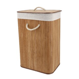 Bamboo Laundry Bin By Rebrilliant