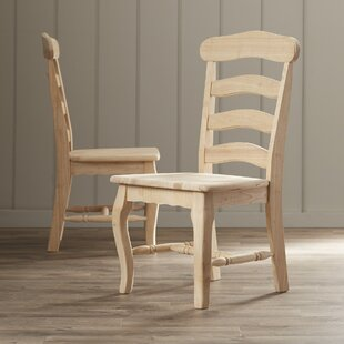 August Grove Toby French Country Solid Wood Dining Chair (Set of 2)