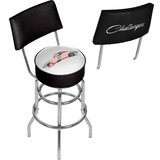 Dodge Challenger 31 Swivel Bar Stool by Trademark Global