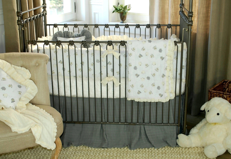 Blueberrie Kids Lambie Tales 4 Piece Crib Bedding Set
