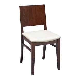 Ivy Bronx Tipping Beechwood Solid Back Seat Upholstered Dining Chair