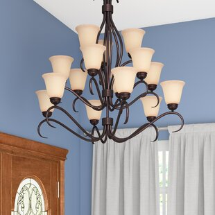 Three Posts Birdsall 15-Light Shaded Chandelier