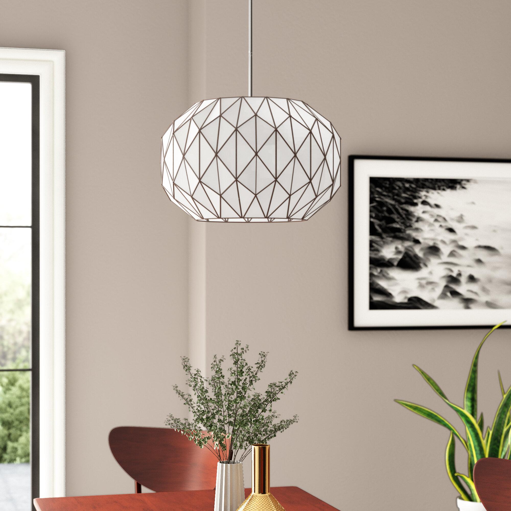 Alfredo 3 Light Geometric Chandelier