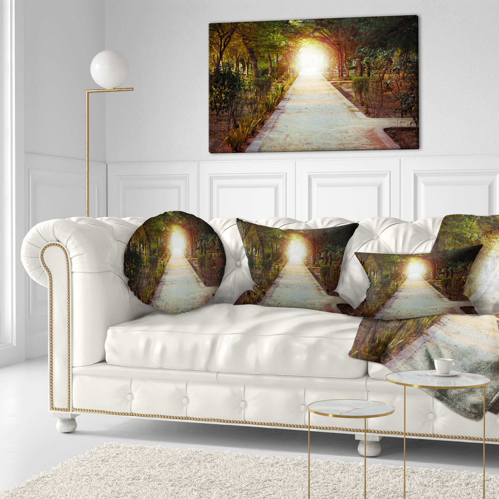 Fabulous Landscape Photography Path To Magical Mystery Woods Lumbar Pillow Short Links Chair Design For Home Short Linksinfo