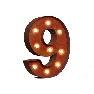 Number Marquee Sign By 17 Stories