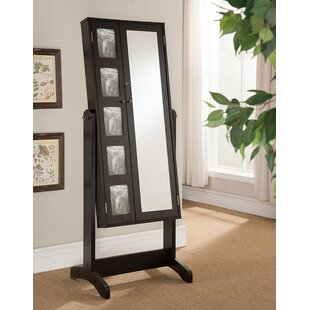 Alcott Hill Kyla Free Standing Jewelry Armoire with Mirror