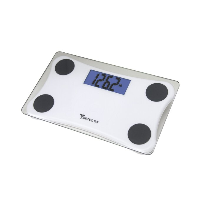 Bluestone Digital Glass Small Compact Portable Bathroom Scale with LCD Display