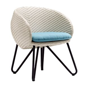 Circle Patio Dining Chair with Cushion