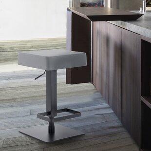 Kaylee Adjustable Height Swivel Barstool Armen Living