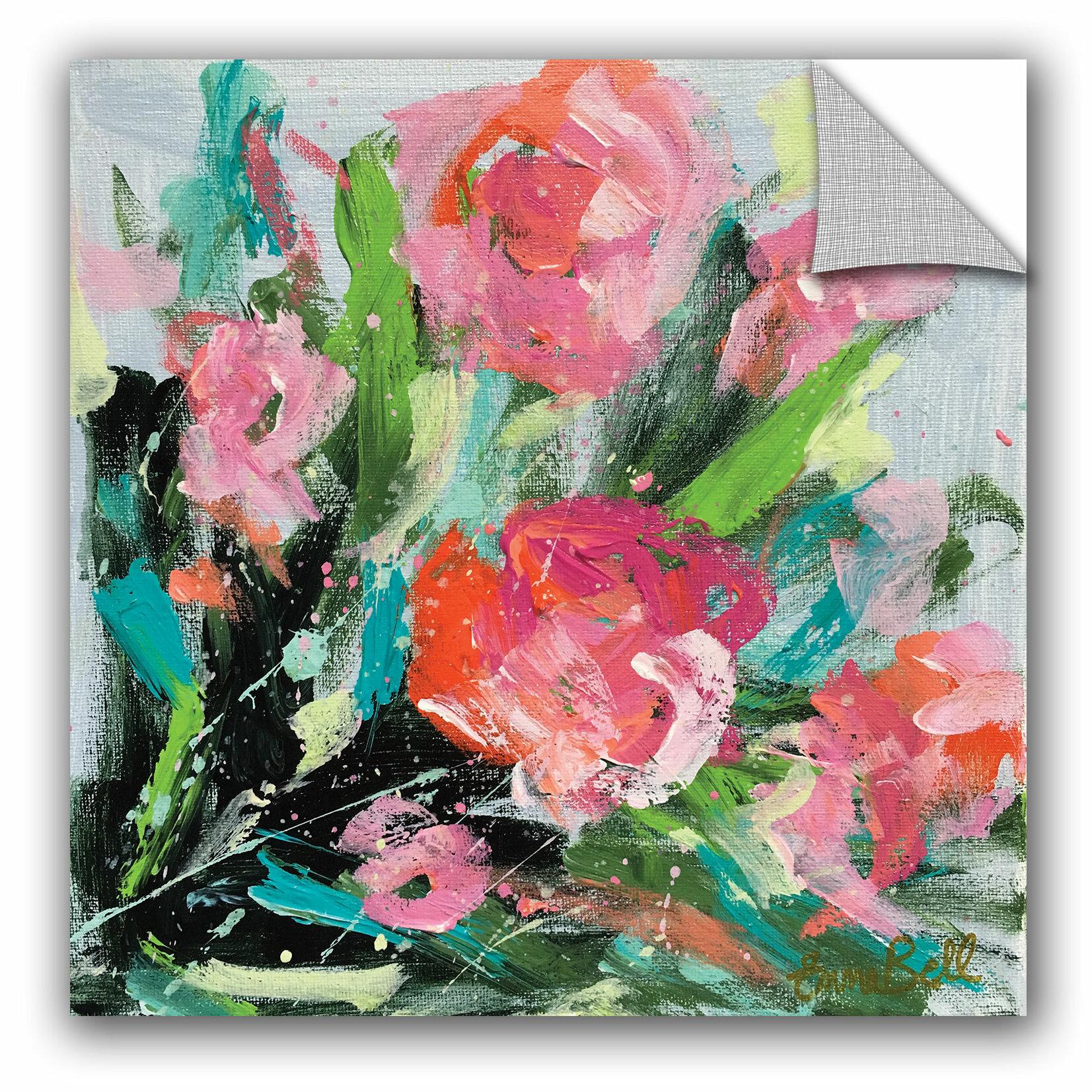 Artwall Emma Bell Pink Floral Burstremovable Wall Decal Wayfair