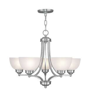 Alcott Hill Irwin 5-Light Shaded Chandelier