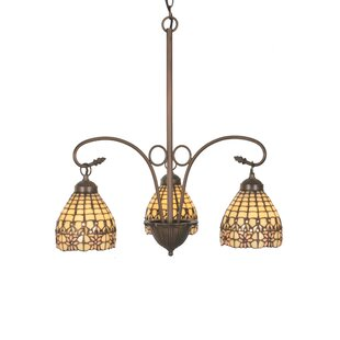 Meyda Tiffany Victorian Flourish 3-Light Shaded Chandelier