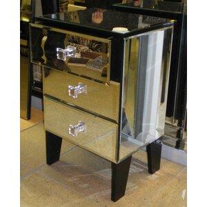 Nachttisch mit 3 Schubladen von Morris Mirrors ..