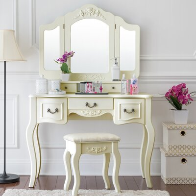 Benson Vanity Set with Mirror Color: Ivory