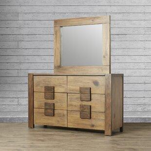 Loon Peak Thomson 6 Drawer Double Dresser wi..