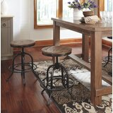 Charlita Swivel Adjustable Height Bar Stool (Set of 2) by Williston Forge