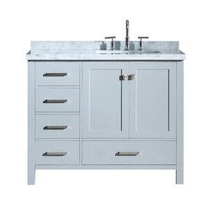 Utley 43 Rectangular Single Bathroom Vanity Set