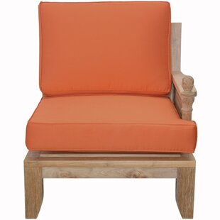 Luxe Teak Left Arm Patio Chair with Sunbrella Cushions